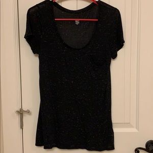 Black Mossimo Speckled Top